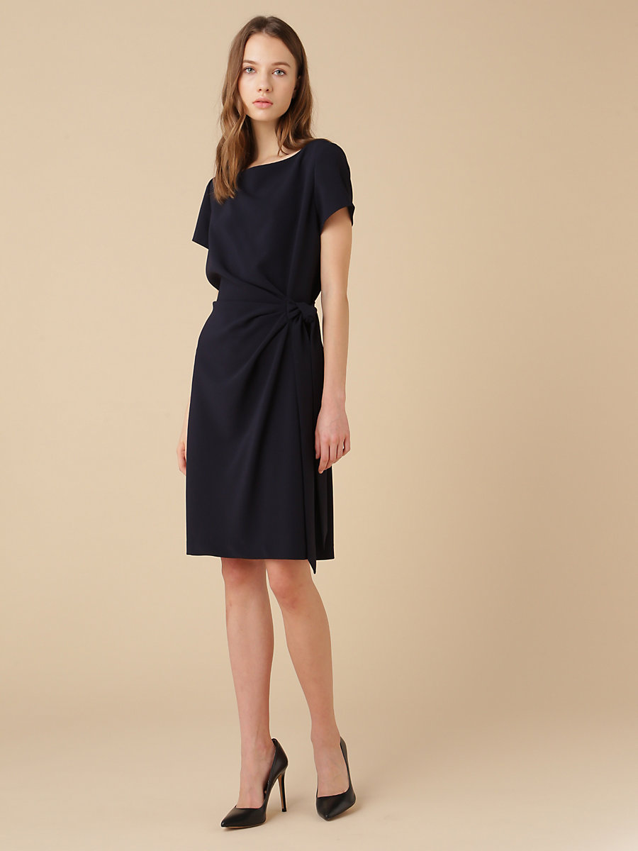 Andy Half Sleeve Dress in Navy by DVF