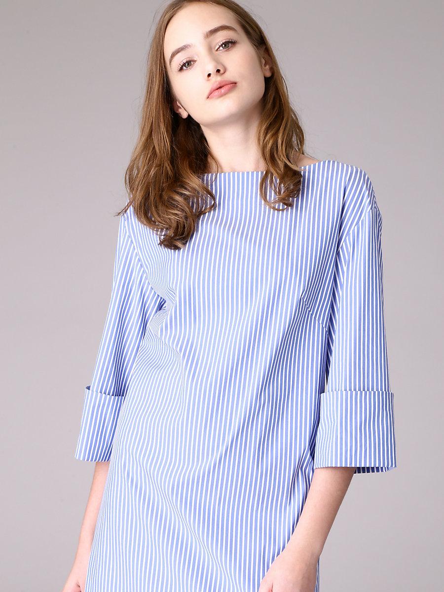 Stripe Dress in Blue by DVF