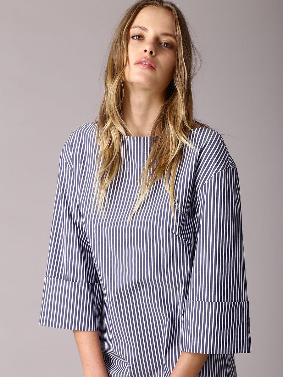 Stripe Dress in Navy by DVF