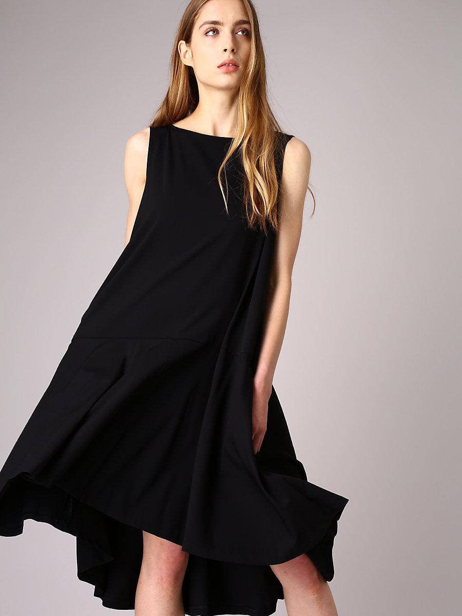 A-Line Drape Dress in Black by DVF