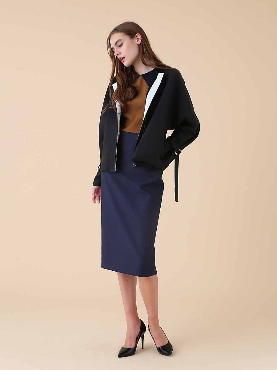 Riders Jacket in Black by DVF