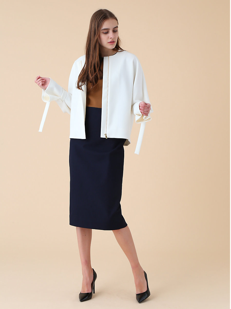 Riders Jacket in White by DVF
