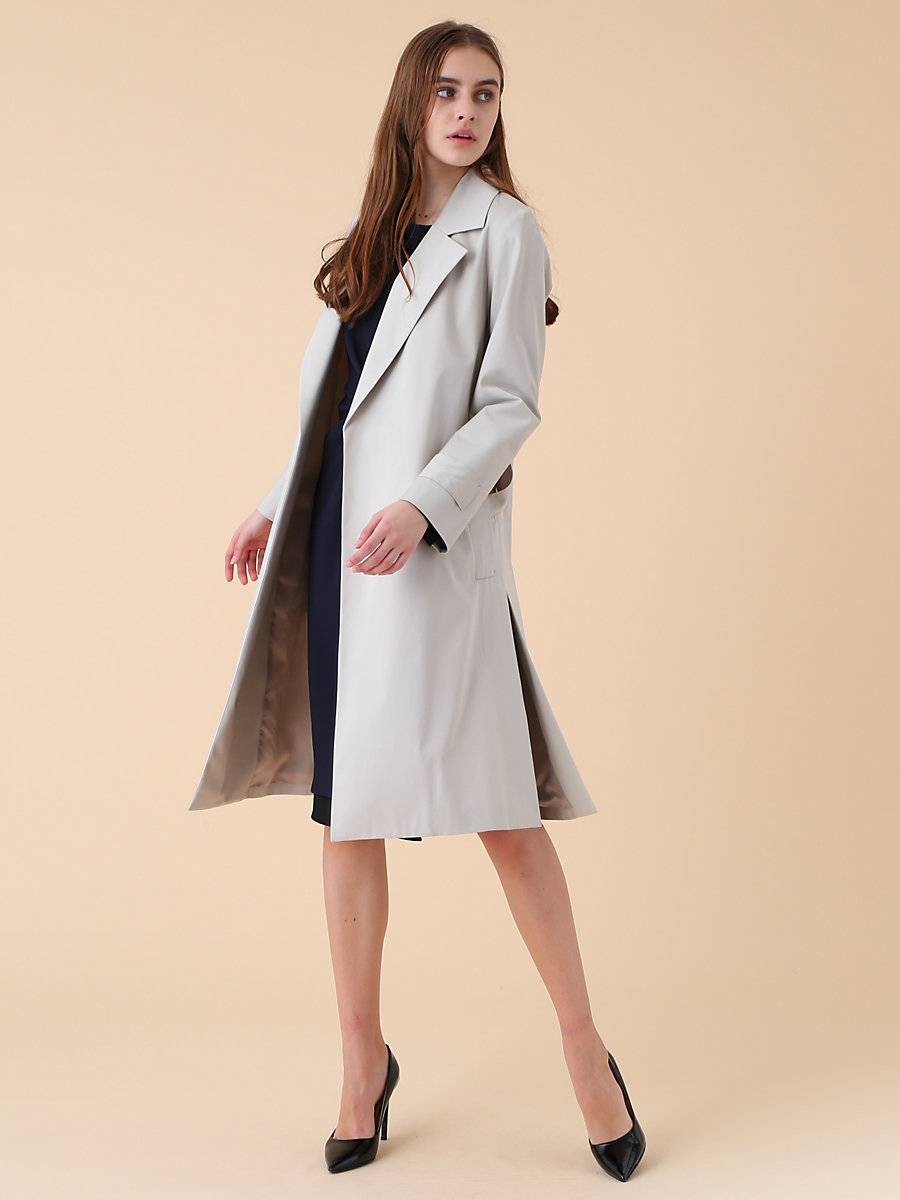 D Ring Spring Coat in Beige by DVF