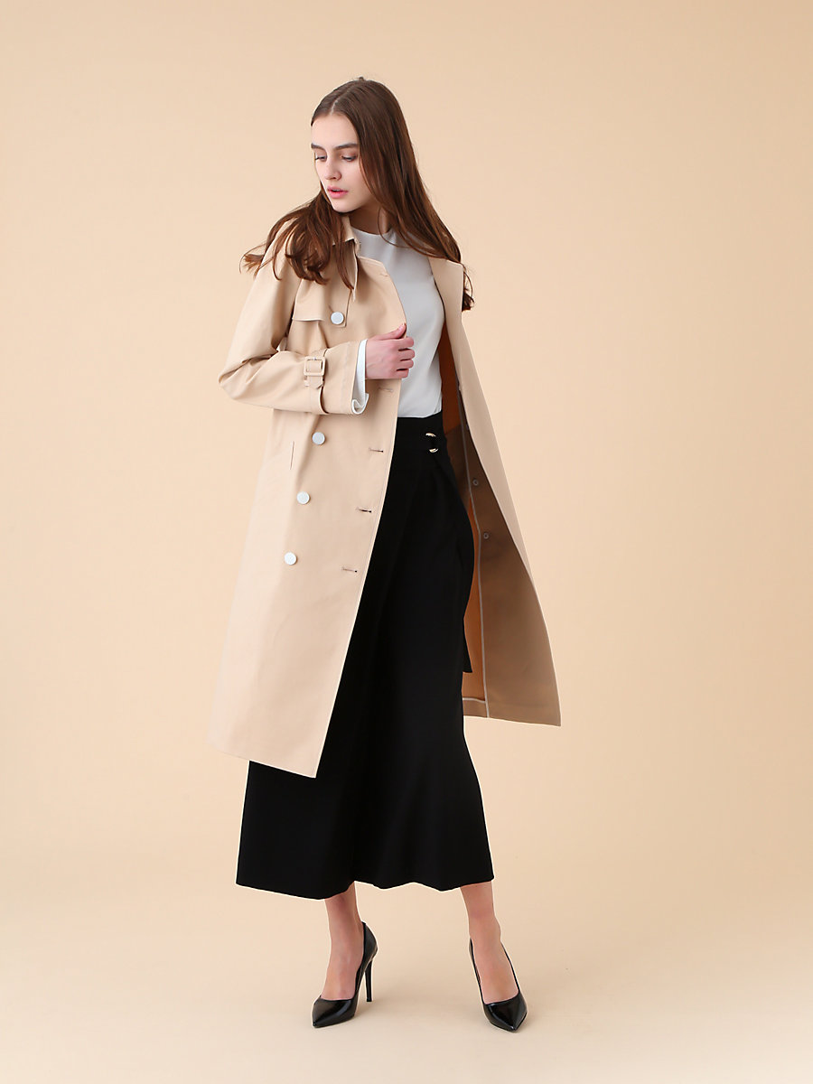Trench Coat in Beige by DVF