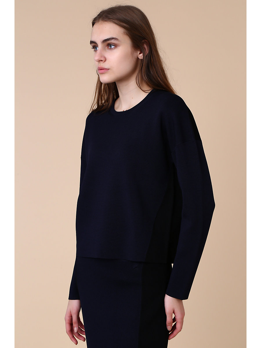 Crewneck Pull Over in Navy by DVF