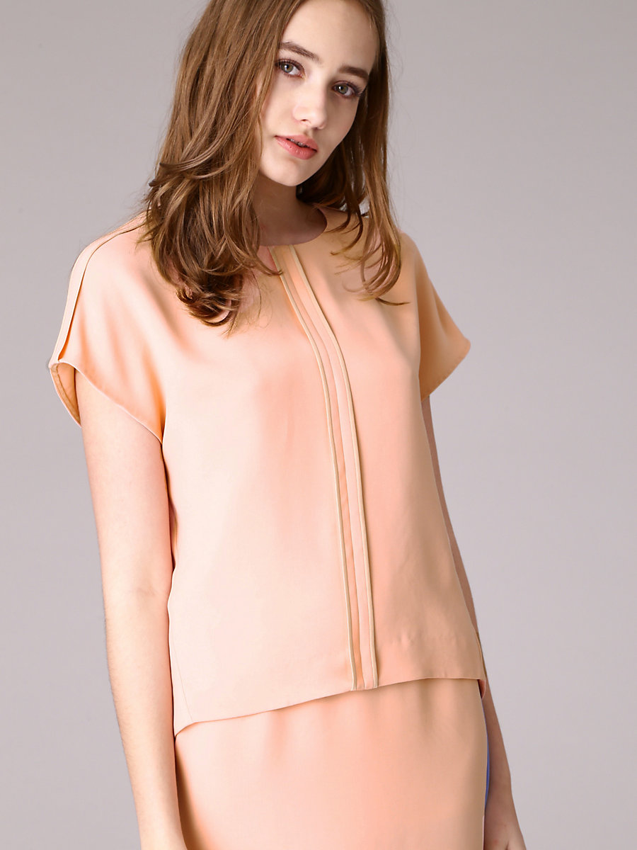 Half Sleeve Blouse in Pink by DVF