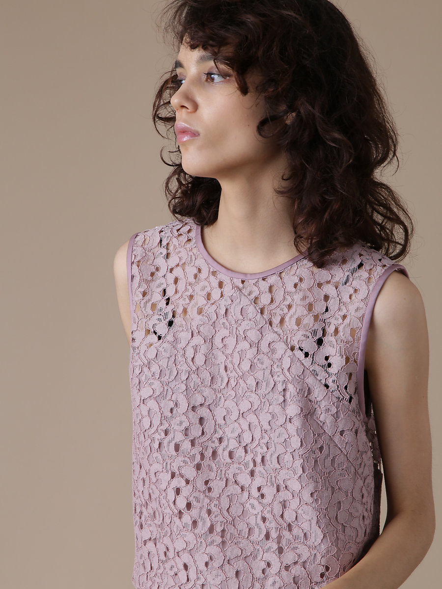 Lace Blouse in Pink by DVF