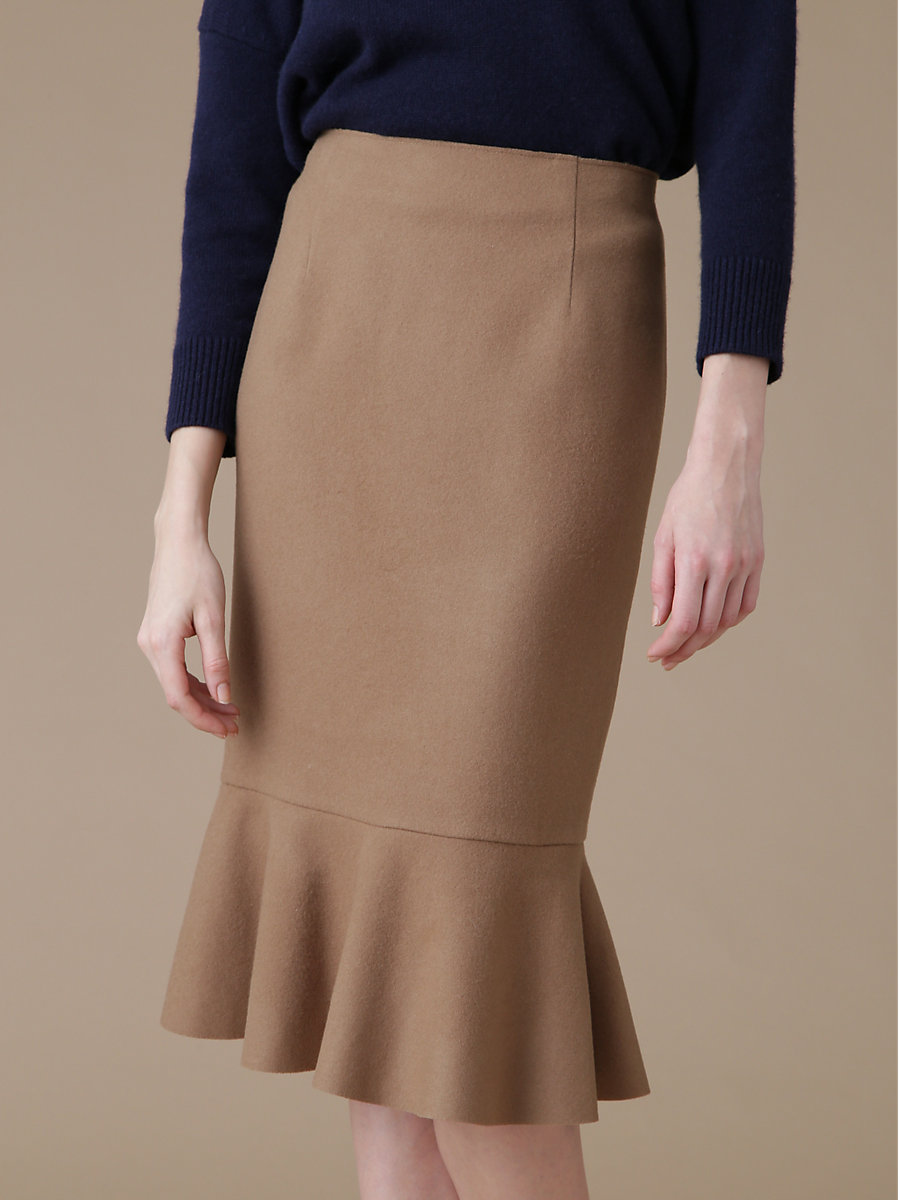 Mermaid Skirt in Brown by DVF