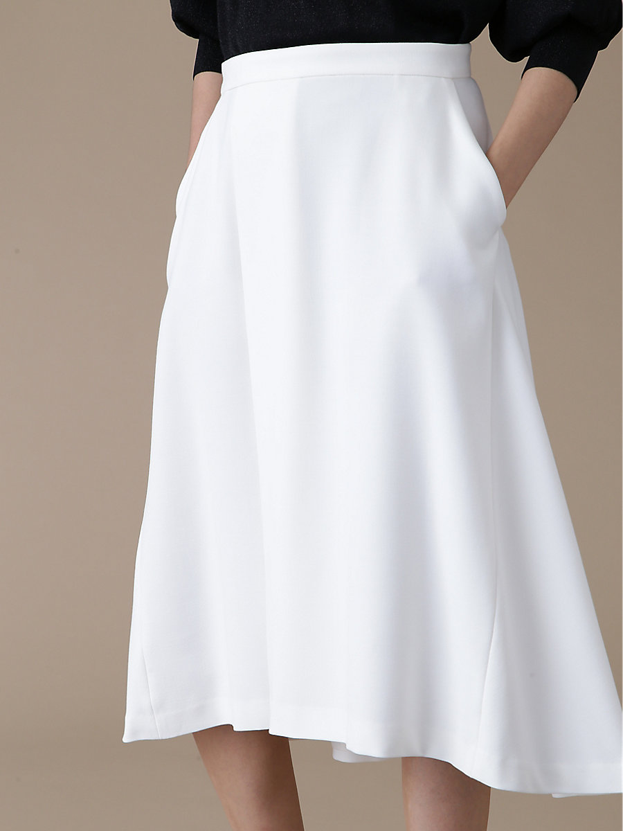 Flare Skirt in White by DVF