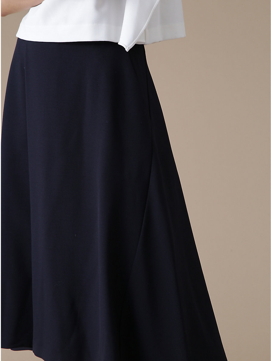 Flare Skirt in Navy by DVF