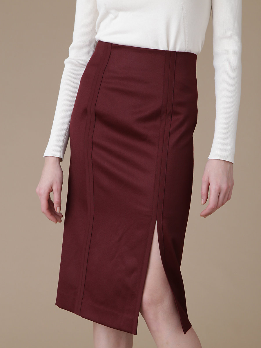 Midi Tight Skirt in Red by DVF