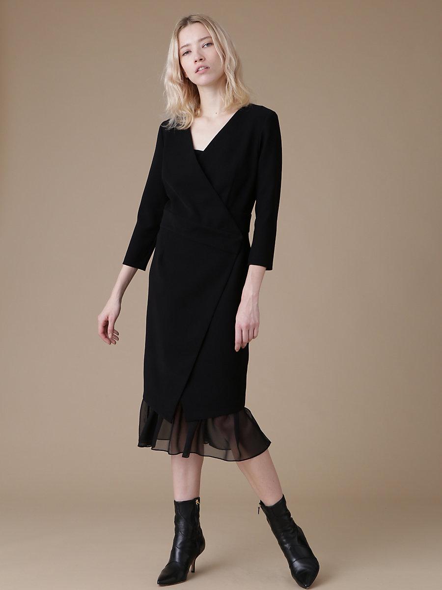 Mermaid Skirt Dress in Black by DVF