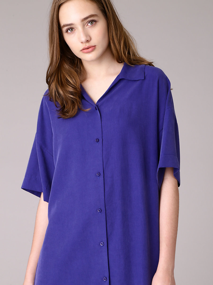 Shirt Dress in Blue by DVF