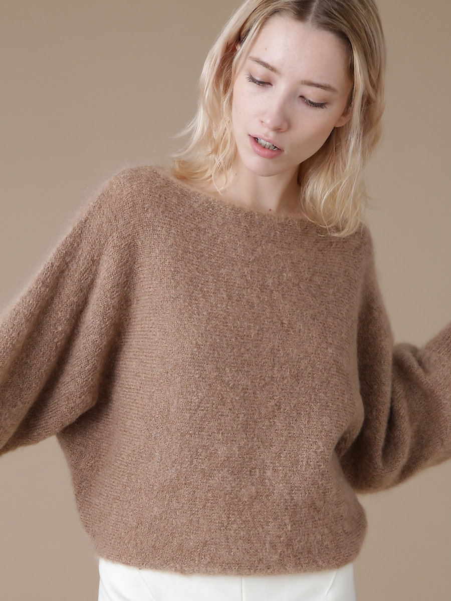 Mohair Knit in Brown by DVF