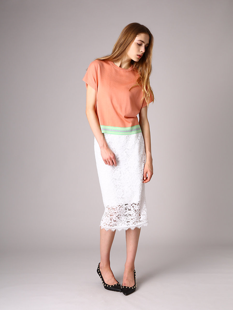 Half Sleeve Knit in Pink by DVF