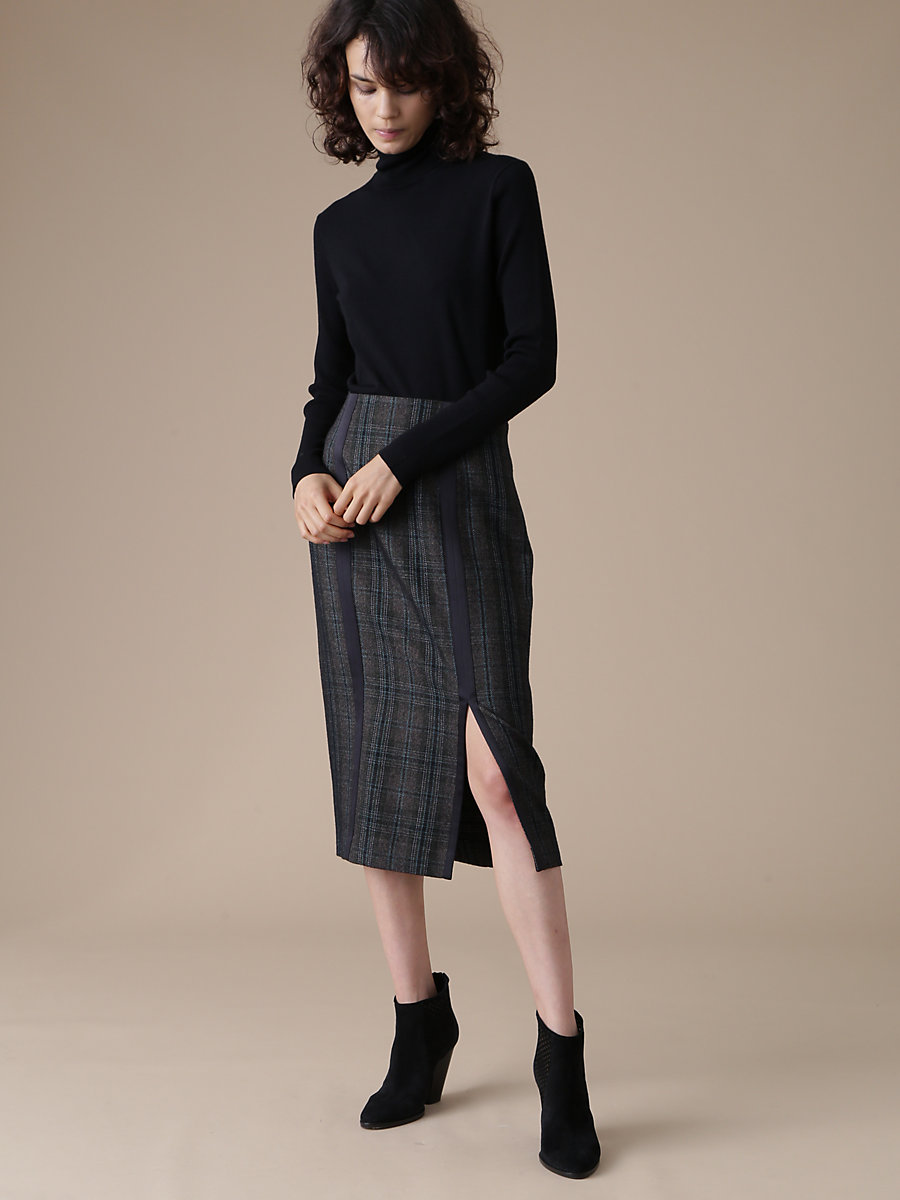 Turtle Neck Knit in Black by DVF