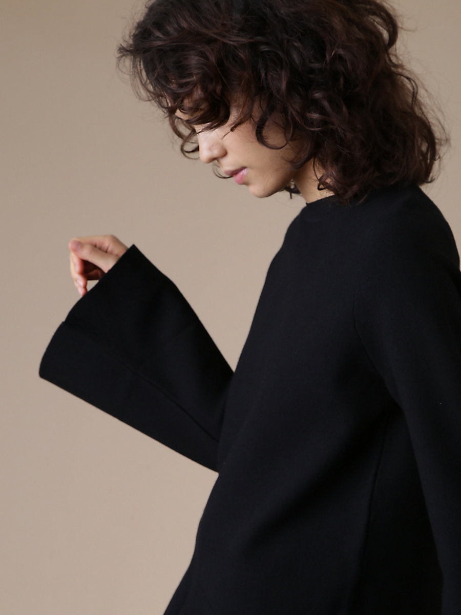 Peplum Pull Over in Black by DVF