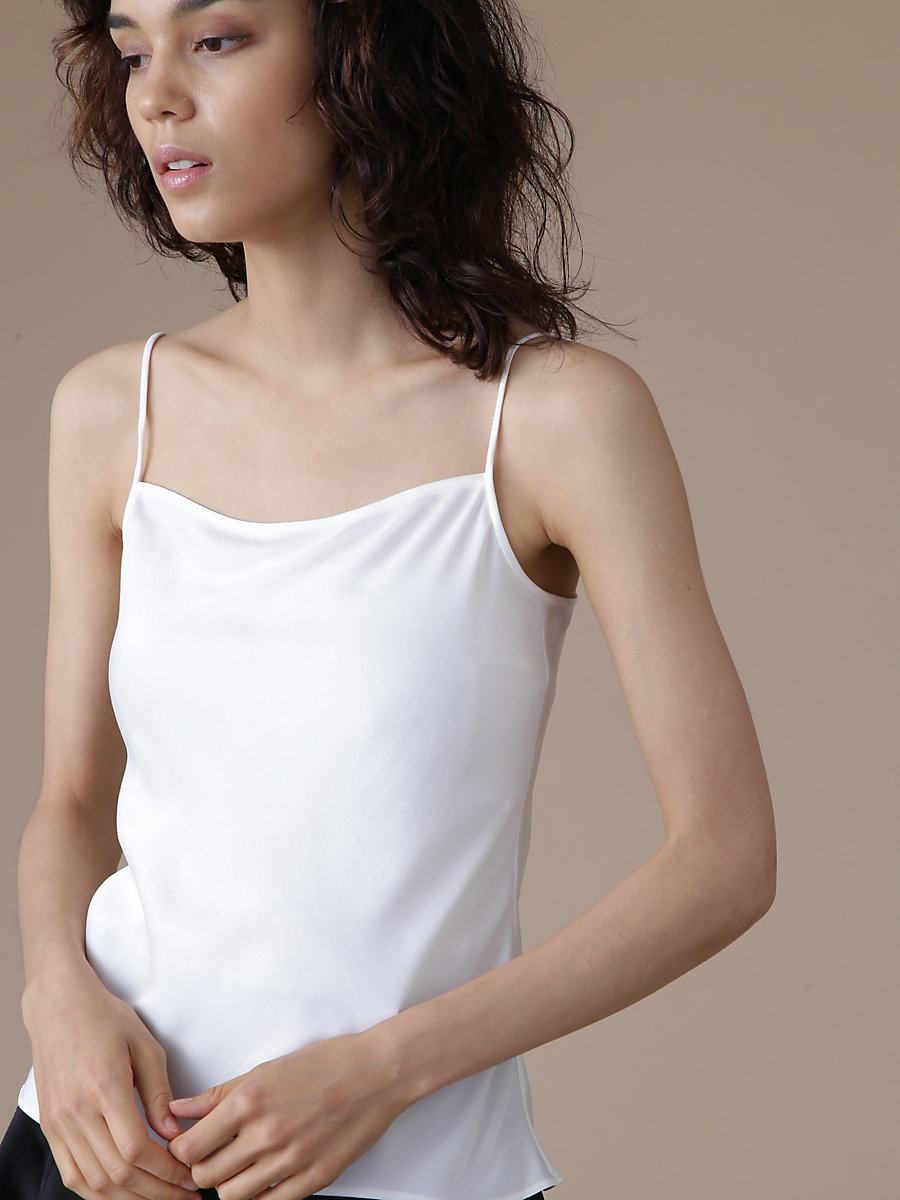 Inner Camisole in White by DVF