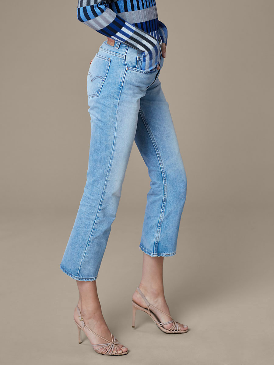 Levi's 517 Cropped Bootcut Jeans in Kerouac Effect by DVF