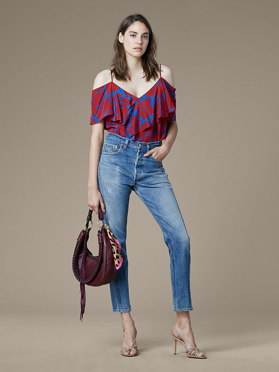 Levi's 501 Vintage Skinny Altered Jeans in True Vintage by DVF
