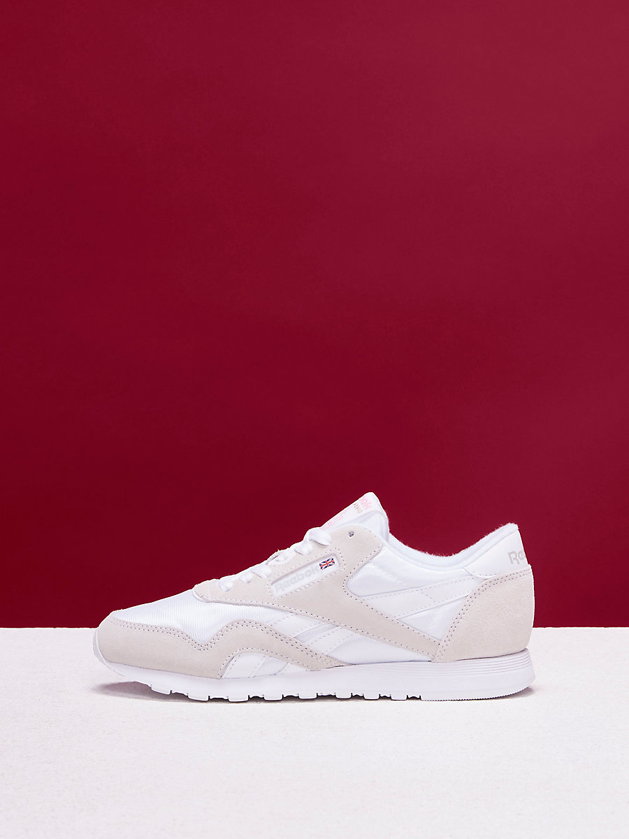 Reebok Classic Nylon Sneakers in White/light Grey by DVF