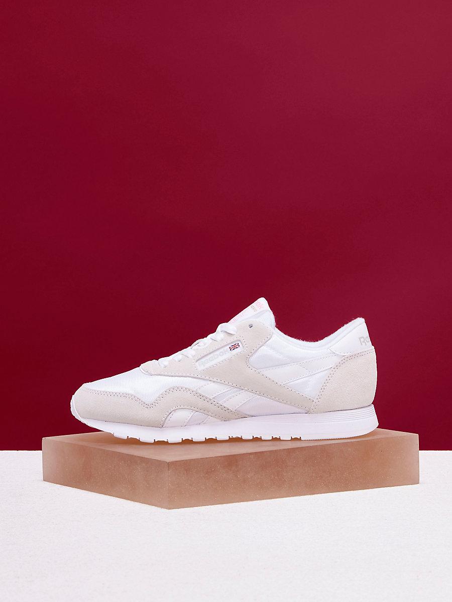 Reebok Classic Nylon Sneakers in White/light Grey by DVF