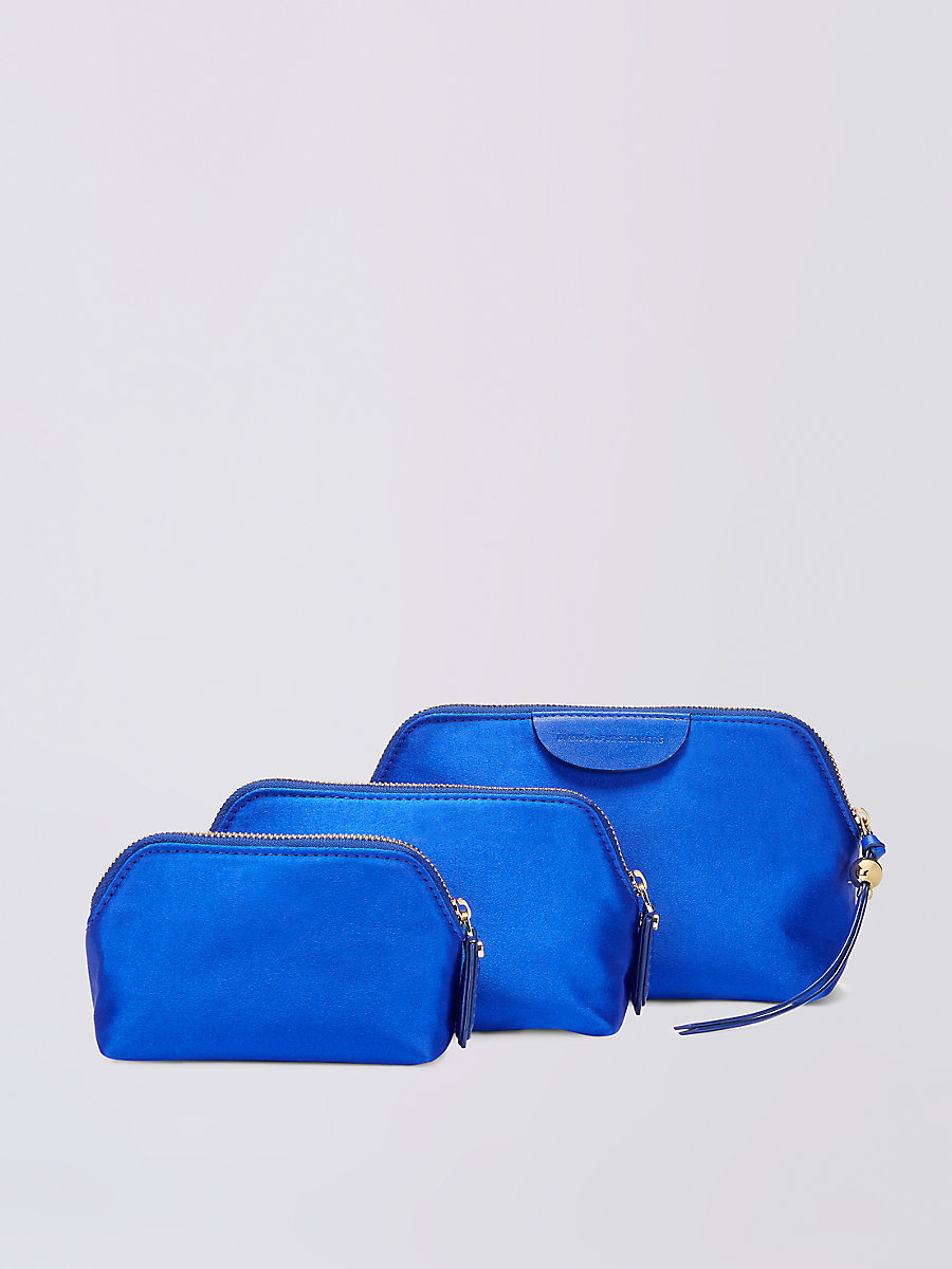 Satin Pouch Triplet Set in Lapis by DVF
