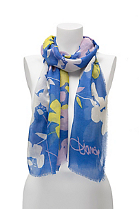 in Floral Meadow Scarf Blue