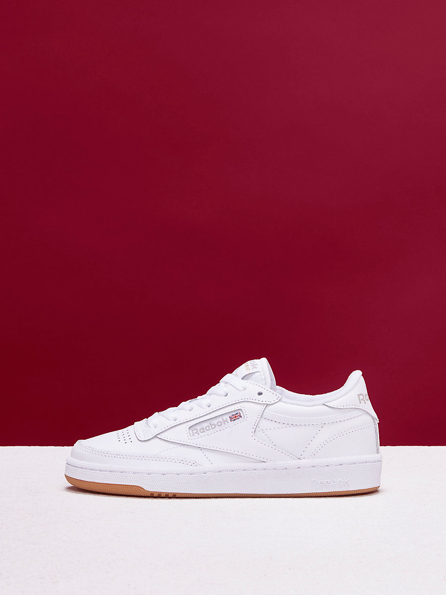 Reebok Club C 85 Vintage Sneaker in White/light Grey by DVF