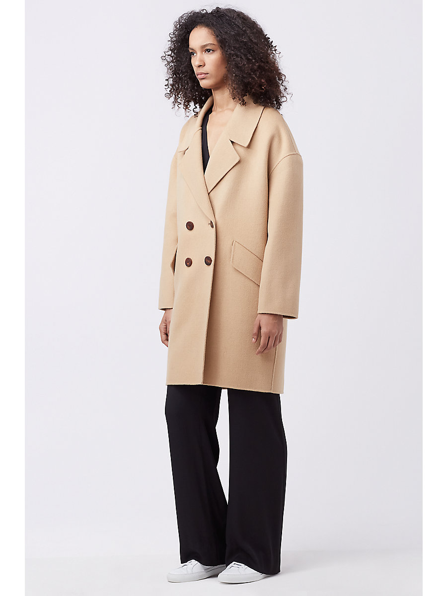 Roma Cocoon Coat in Camel by DVF