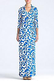Abigail Long Maxi Wrap Dress