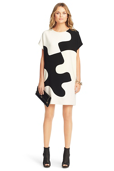 Home Dresses Printed Kelsey Puzzle Tunic Dress