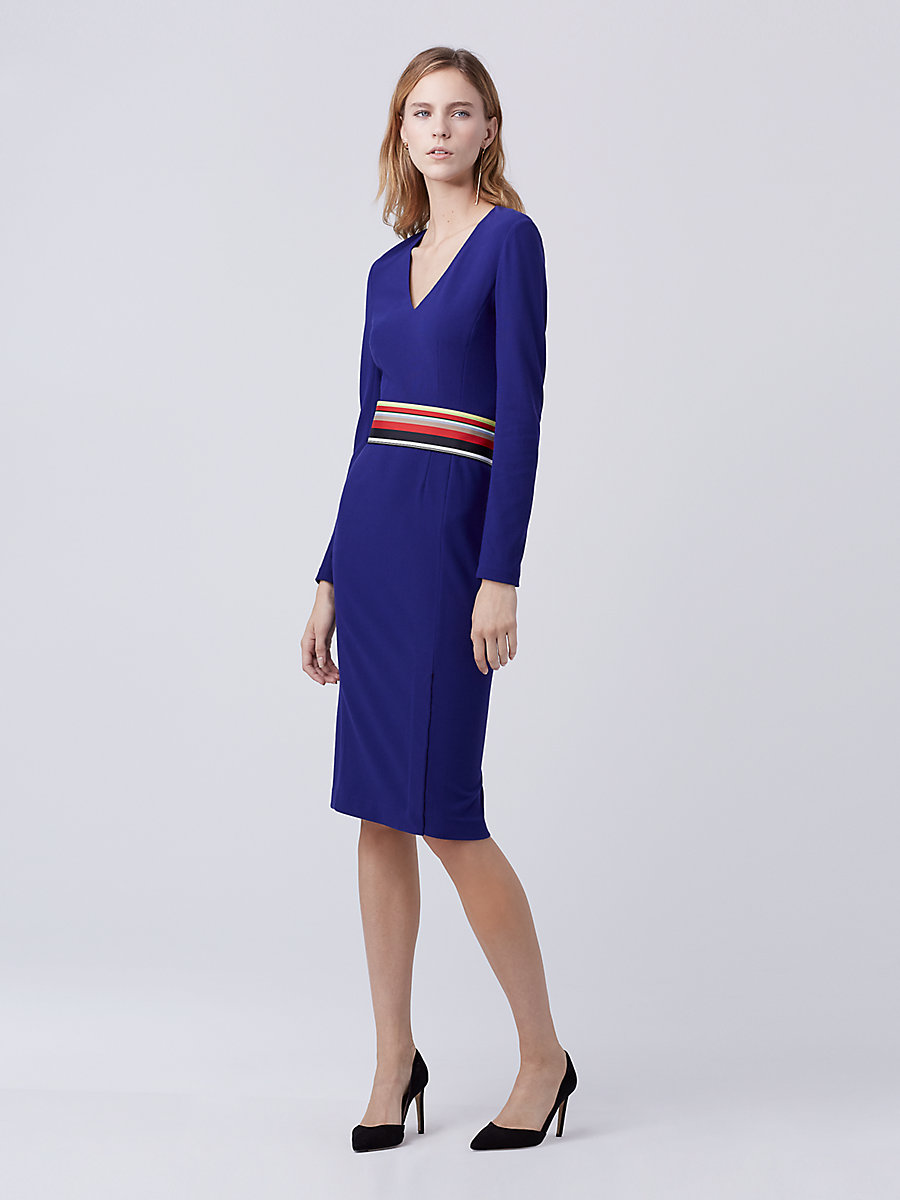 DVF Milena Sheath Dress in Azurite Blue by DVF