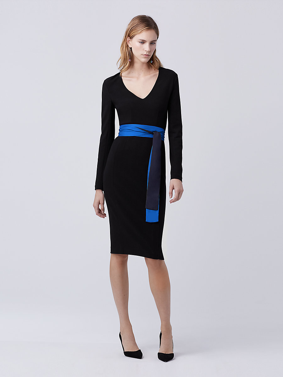 DVF Milena Sheath Dress in Black by DVF