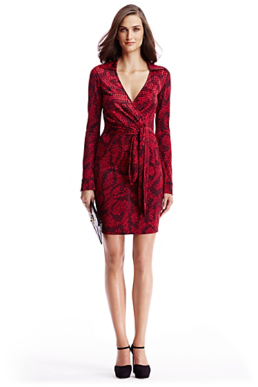 Home Sale Dresses DVF Savannah Silk Jersey Dress