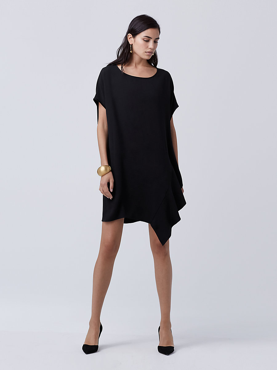 DVF Lolani Tunic Dress in Black by DVF