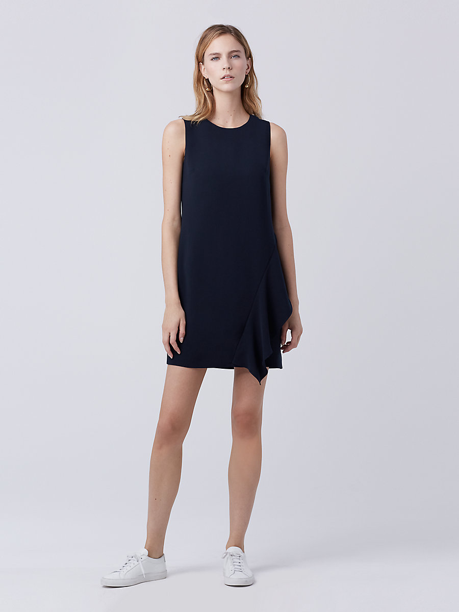 DVF Wylda Shift Dress in Deep Night by DVF