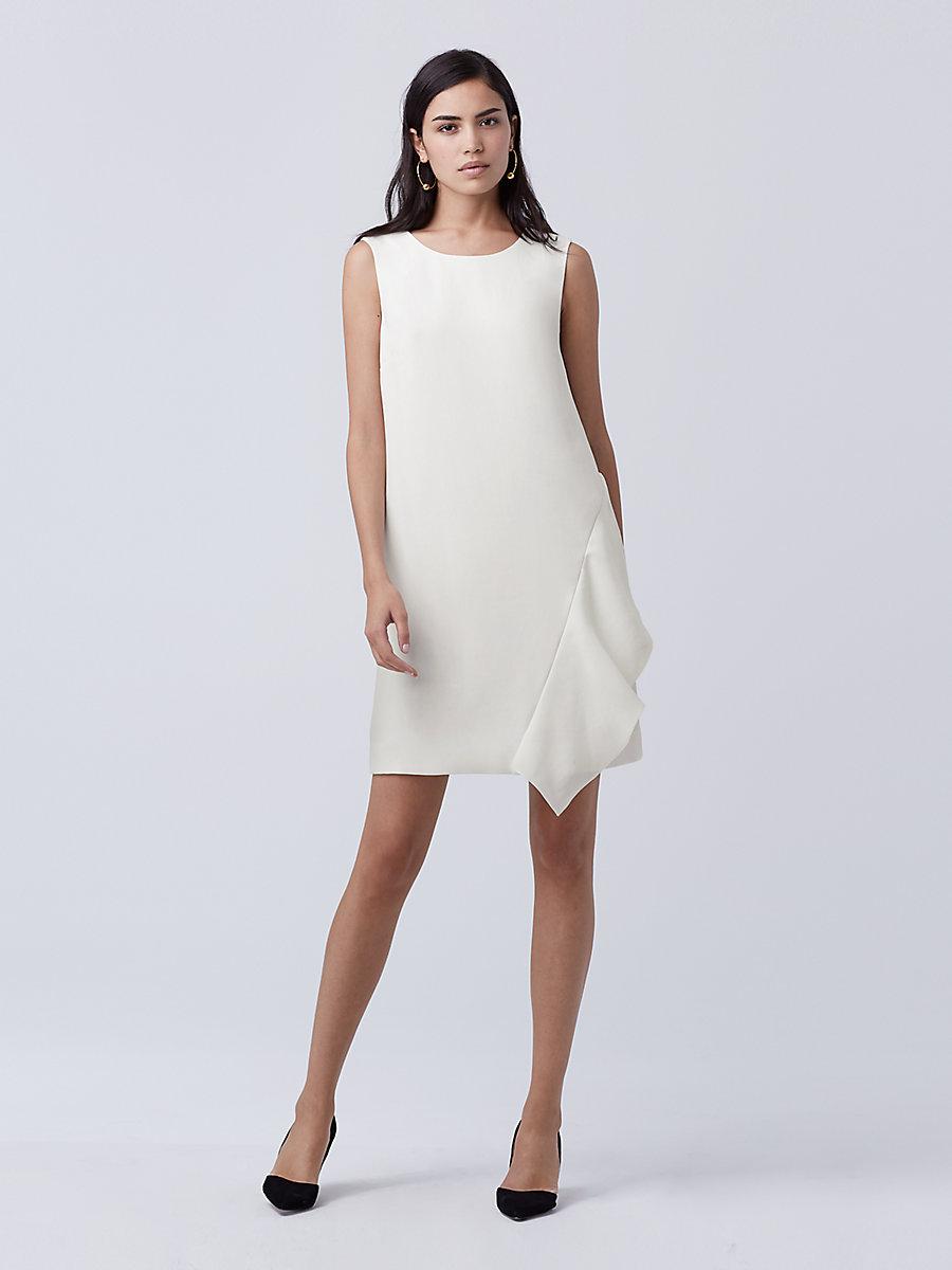 DVF Wylda Shift Dress in Ivory by DVF