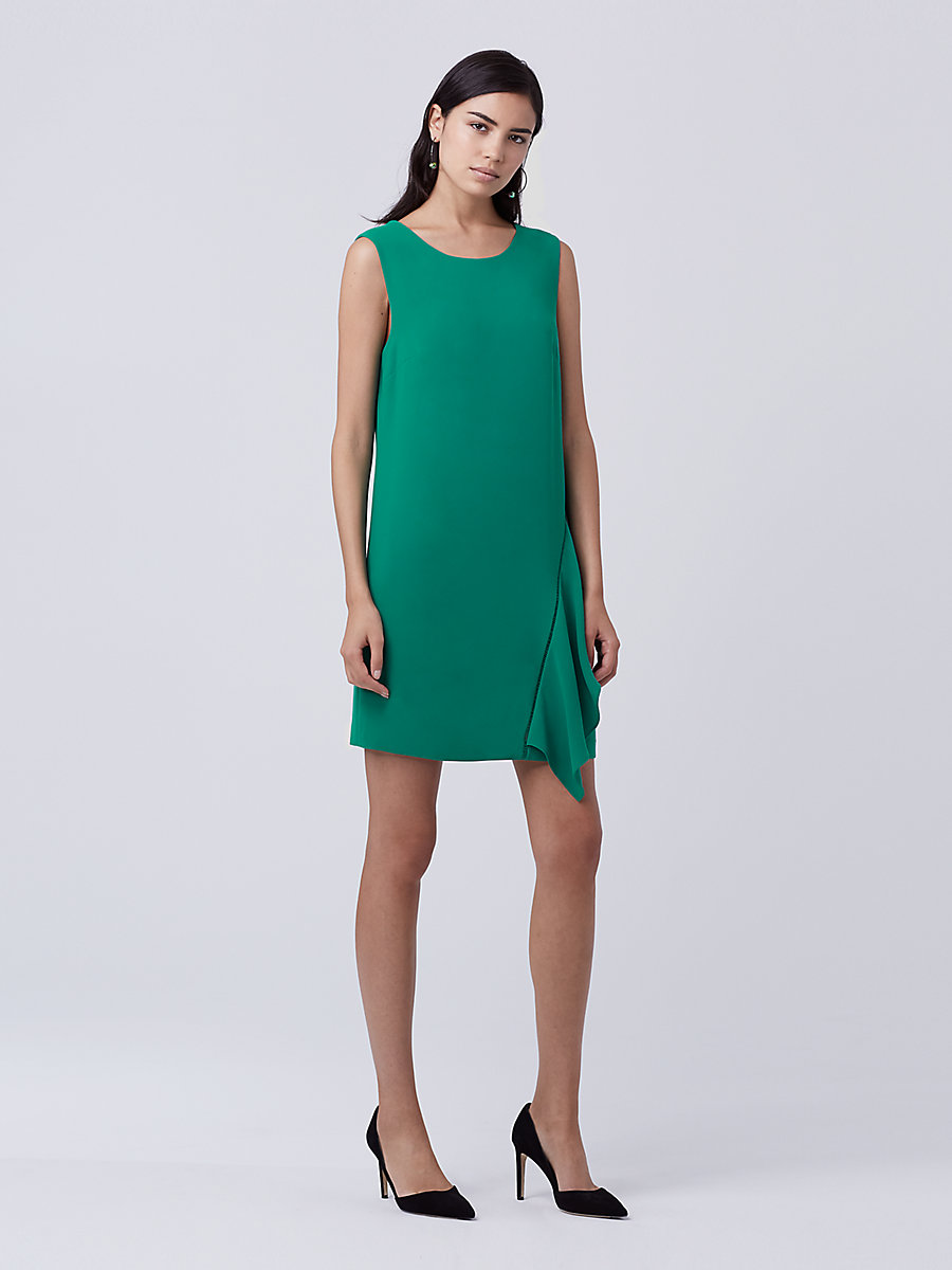 DVF Wylda Shift Dress in Sea Green by DVF