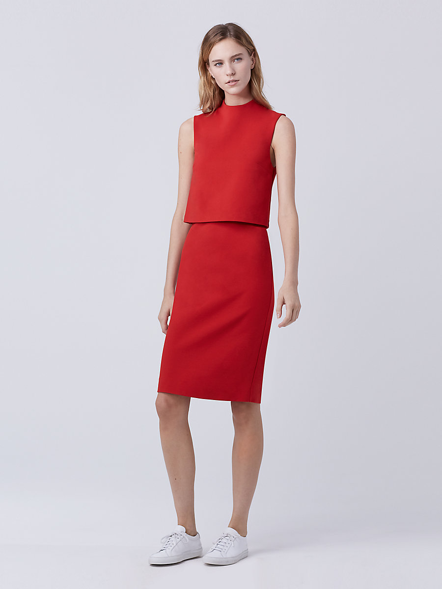 DVF Tali Dress in Scandal Red by DVF
