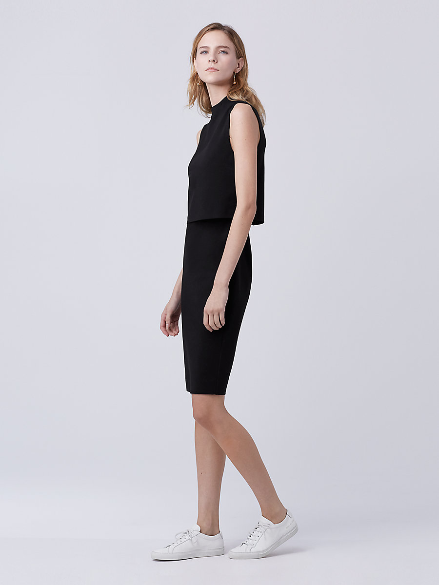 DVF Tali Dress in Black by DVF