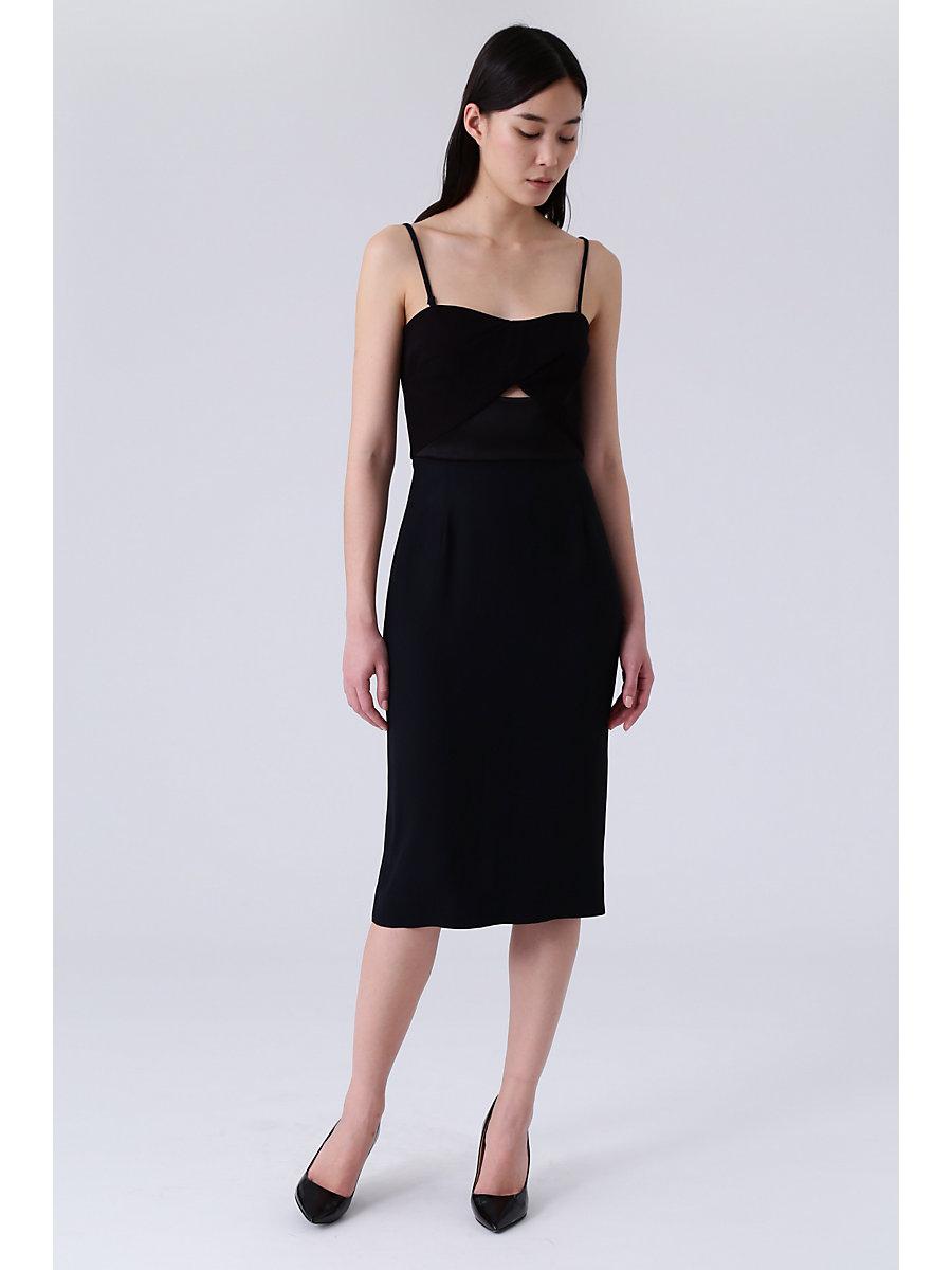 DVF Valda Dress in Black by DVF