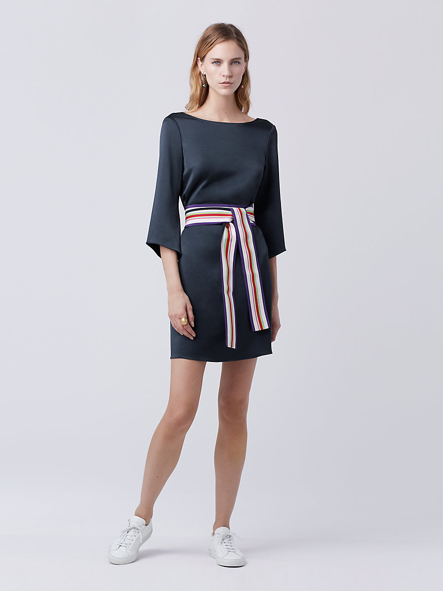DVF Korrey Shift Dress in Deep Night by DVF