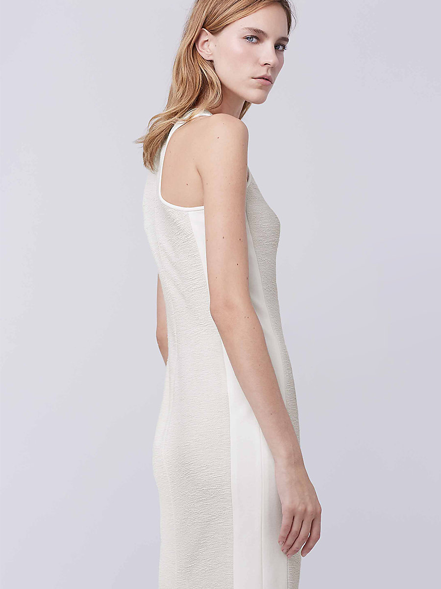 DVF Teyla Dress in Canvas White/canvas White by DVF