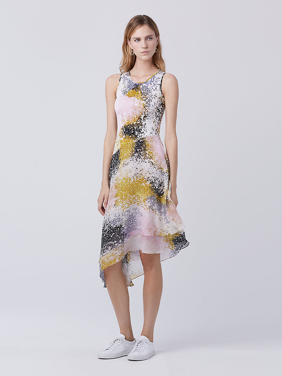 DVF Klarra Dress in Stella Fresco Rock by DVF