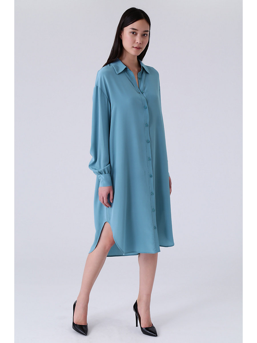 DVF Tressa Shirt Dress in Heron by DVF