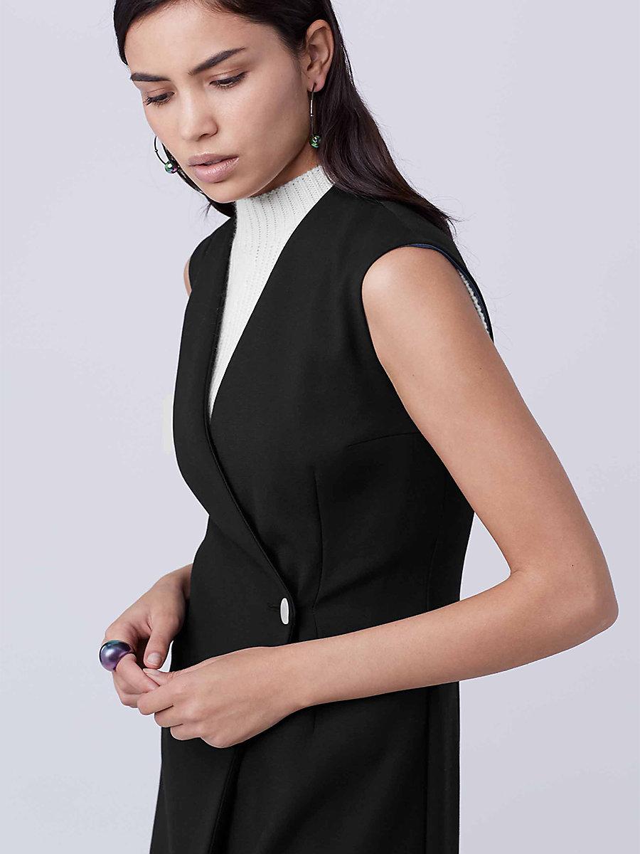 DVF Brygid Vest Dress in Black by DVF