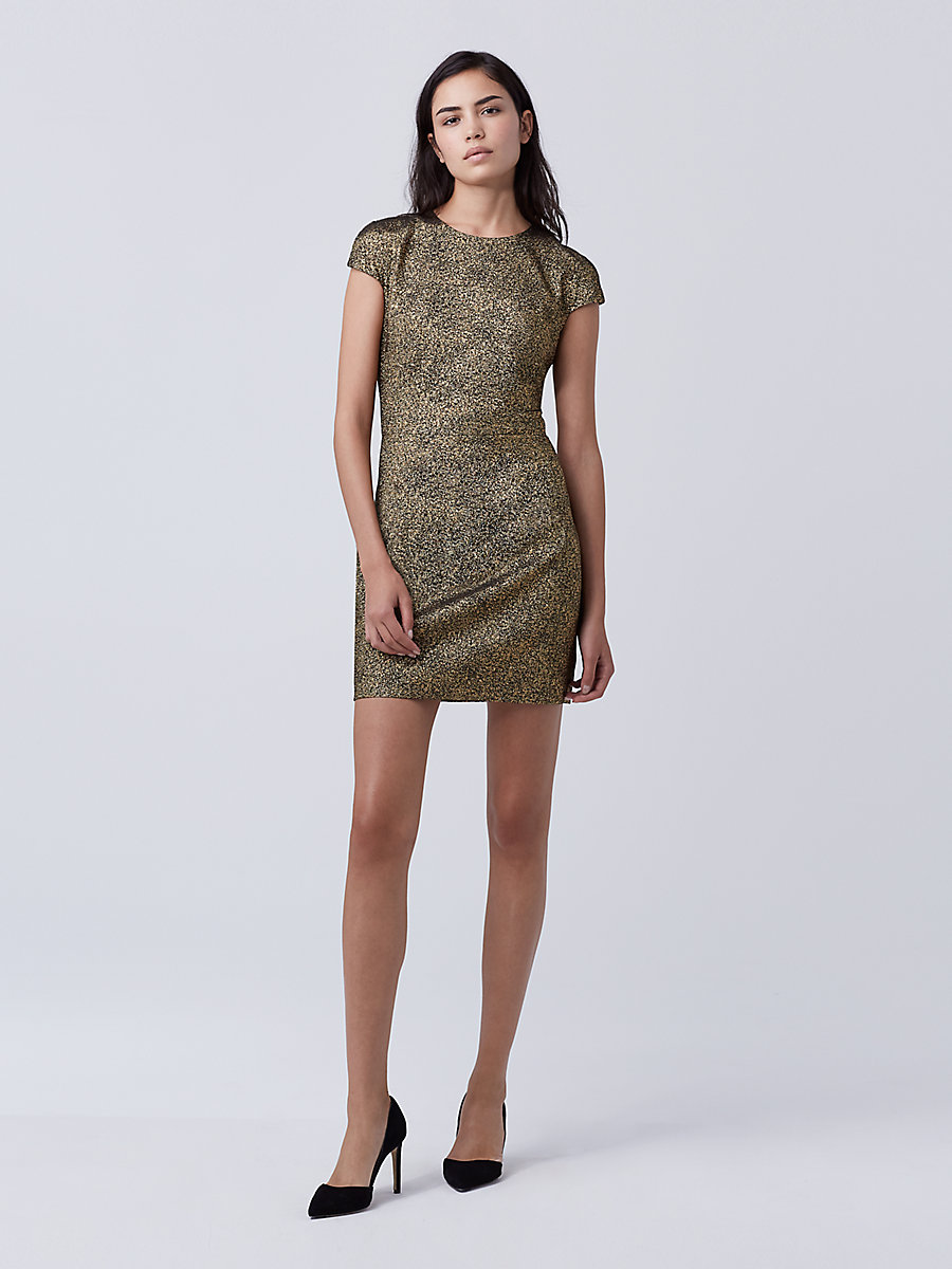DVF Hadlie Two Dress in Gold by DVF