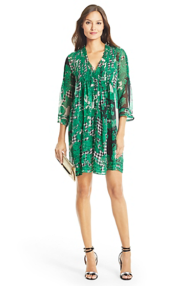 Home Sale Dresses DVF Layla Chiffon Tunic Dress