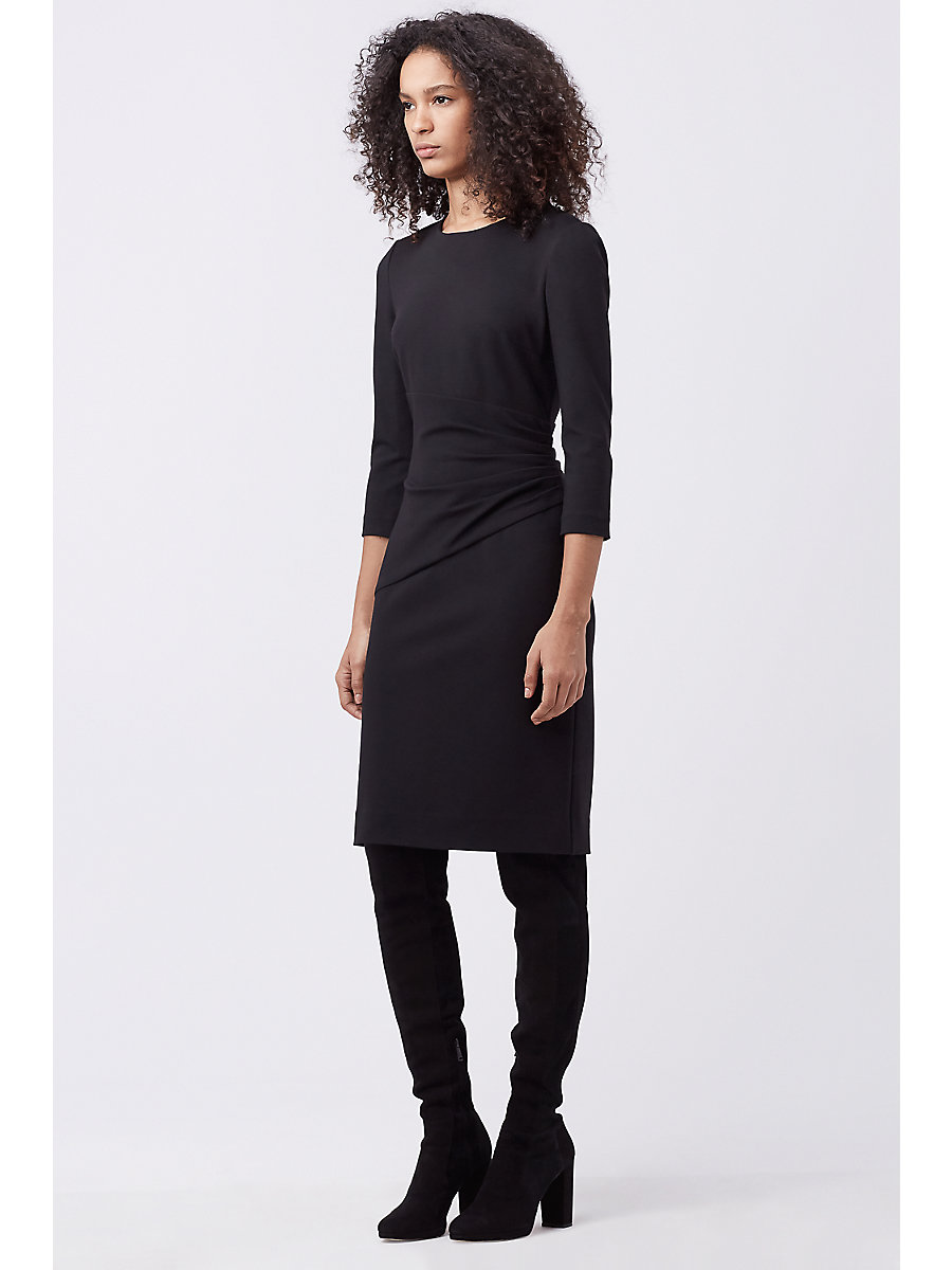 DVF GLENNIE FITTED DRESS in Black by DVF
